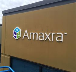 Dimensional Logo on Building Wall