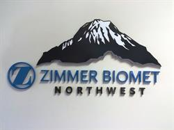 Dimensional Logo sign on interior wall