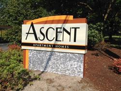 Ascent Apartment Homes Monument Sign