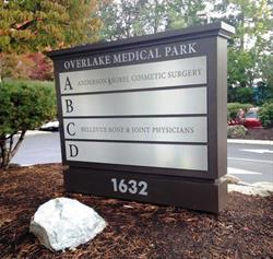 Overlake Medical Park Tenant Monument Sign