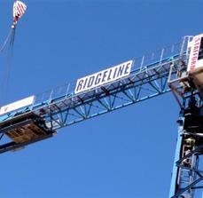 Ridgeline Construction Crane Banner
