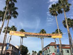 Street Banner with Rope Extensions