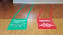 Floor Graphics for Privacy Line