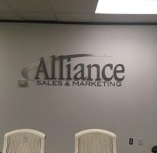 Charlotte Alliance Sales Wall Lettering