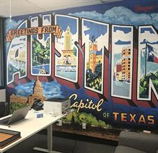 Greetings From Austin Wall Graphics