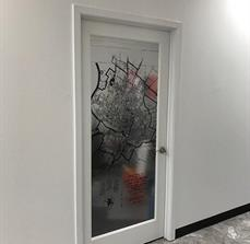 Austin City Map Door Graphics