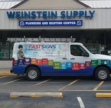 Weinstein Supply Sign with Channel Letters