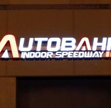 Autobahn Indoor Speedway Illuminated Channel Letters