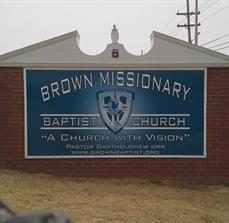 Brown Missionary Monument Sign