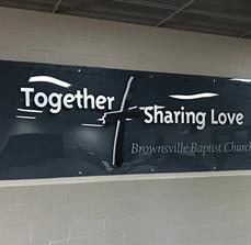 Brownsville Church Acrylic Wall Sign