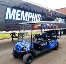 University of Memphis Golf Cart Graphics