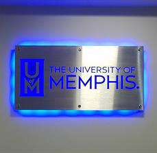 University of Memphis Illuminated Wall Sign