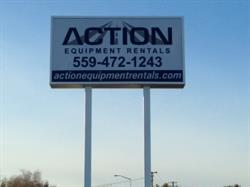 Action Rentals Pylon Sign Clovis, CA