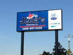 Jacks Refrigeration Pylon Sign