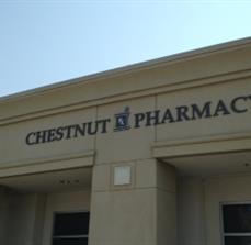 Dimensional Letters Chestnut Pharmacy
