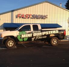 Mini Dumpsters Vehicle Wrap