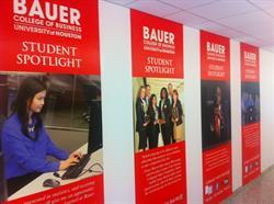 UH Bauer Student Spotlights Wall Graphics