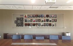 Bauer College Board display
