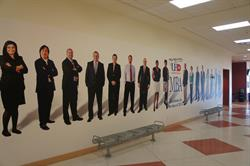 UHD MBA Program wall graphics