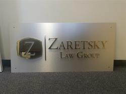 Law Group Aluminum Office Sign
