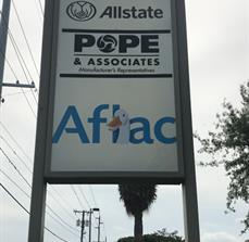 Brand identity: achieved with pylon sign for Aflac