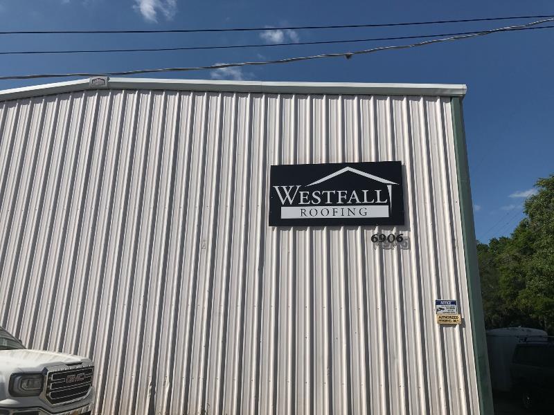 Dibond exterior wall signage for branding