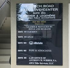 directory building signs for professional and office buildings