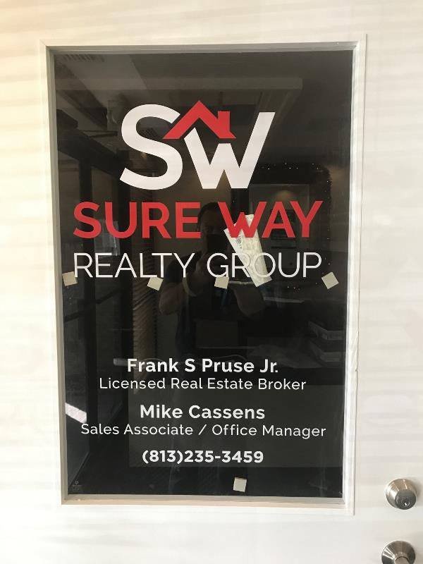 Door vinyl for real estate offices and other new businesses
