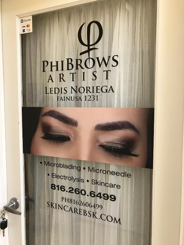 Dramatic images and designs for vinyl storefront and door signage
