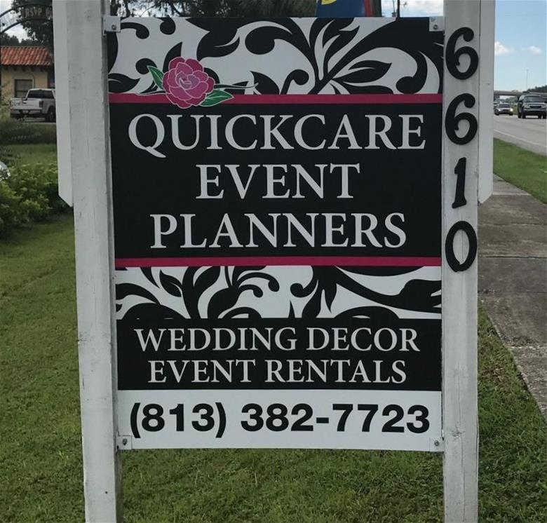 Site signs for wedding and event planners