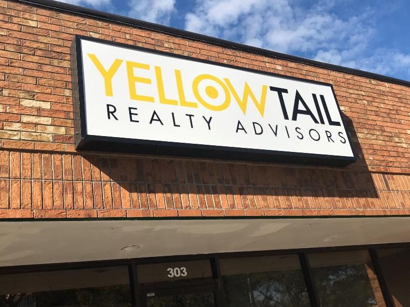 Lightbox building signs for real estate broker offices