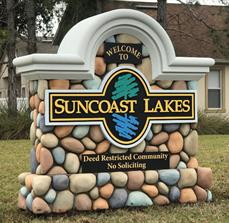 Custom monument signs for communities, designed to customer specifications