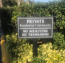 No soliciting and trespassing signs for communities