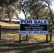 Commercial real estate site signs