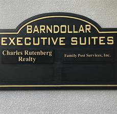 Custom sandblasted multitenant signs for professional and office settings