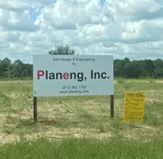 Site signs for early stage commercial real estate projects