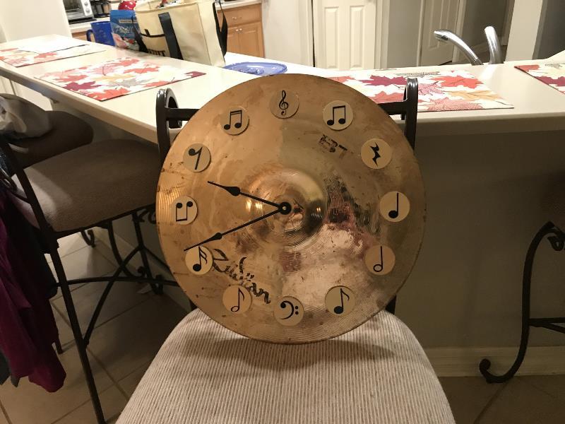 Unique custom symbol clock gift for music college graduate