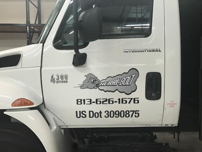 Vehicle graphics department of transportation signage for truckers