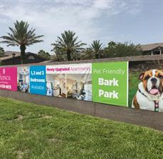 Wall banners for property managers and apartments