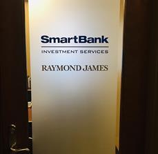 Peat Tree Smart Bank Vinyl Door Letters