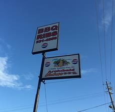 Buffalo Rock BBQ Cabinet Sign