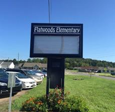 Flatwoods Elementary Monument Sign