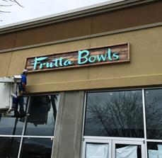 Frutta Bowls Storefront Sign