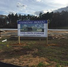 Cool Crate Storage Site Sign