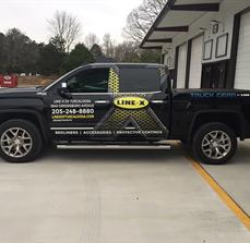 Line-X Partial Vehicle Wrap
