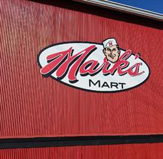 Mark's Mart Routed Sign