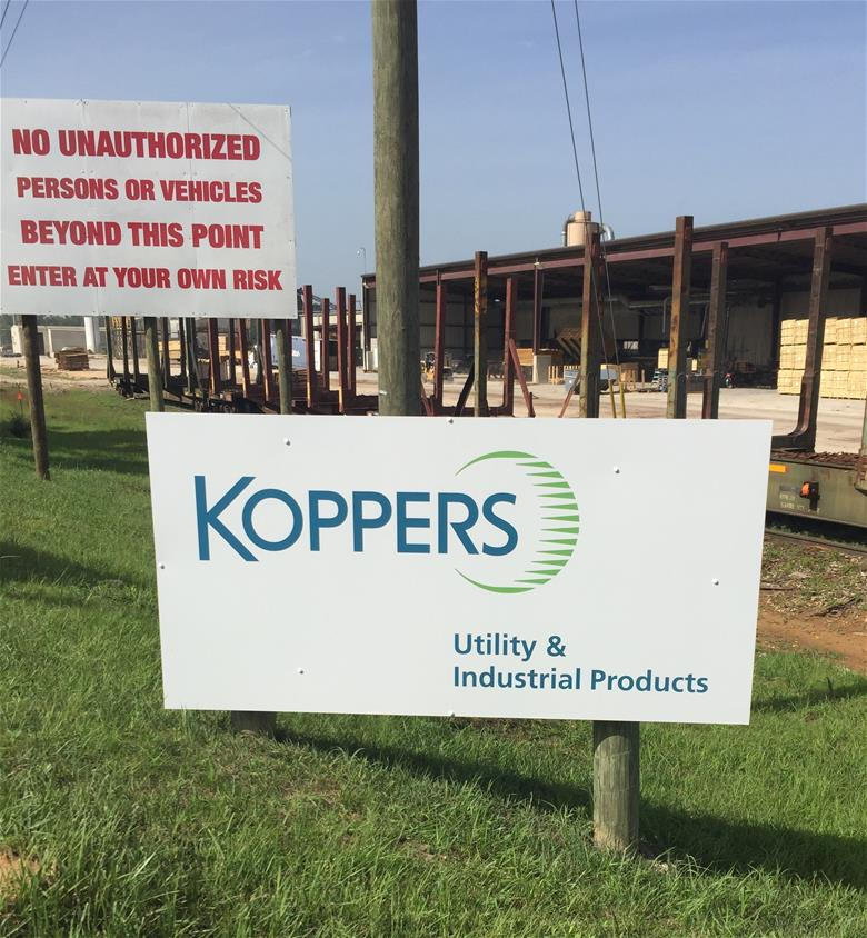 Koppers Retail Sign