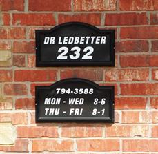 Building Business Hour Signs