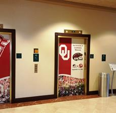 Printed Vinyl Removable Elevator Graphics