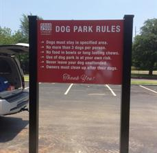 Post & Panel Dog Park Sign